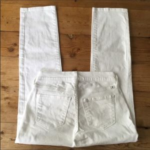 Lucky Brand White Brooke Crop Jeans